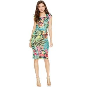 Eci Tropical Dress sz 8 NWT